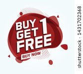 buy 3 get 1 free sale tag.... | Shutterstock .eps vector #1431702368