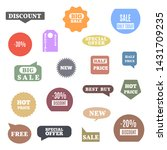 premium quality labels for... | Shutterstock .eps vector #1431709235