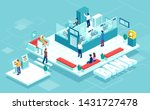isometric vector of bank... | Shutterstock .eps vector #1431727478