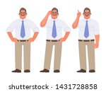 set of character of a... | Shutterstock .eps vector #1431728858