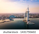 Dubai Seaside Skyline And Burj...
