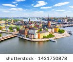 Aerial View Of Stockholm Old...