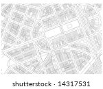city map autocad drawing black... | Shutterstock . vector #14317531