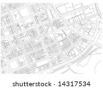 city map autocad drawing black... | Shutterstock . vector #14317534