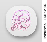 therapy facial mask app icon.... | Shutterstock .eps vector #1431755882