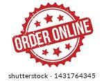 order online rubber stamp.... | Shutterstock .eps vector #1431764345