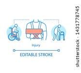 injury concept icon. trauma... | Shutterstock .eps vector #1431778745