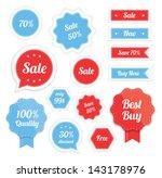 set of vector labels | Shutterstock .eps vector #143178976