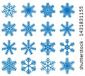snowflake icons kit. set of... | Shutterstock .eps vector #1431831155