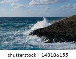 Huge Waves Crashing On The...