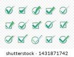 vector confirm icons set. check ... | Shutterstock .eps vector #1431871742