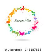 colorful watercolor splashes in ... | Shutterstock .eps vector #143187895