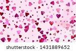 red  pink hearts vector... | Shutterstock .eps vector #1431889652