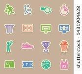 basketball sport color sticker...