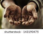 farmer hands. | Shutterstock . vector #143190475