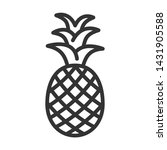 pineapple outline ui web icon....