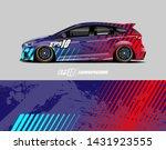 car wrap decal design concept.  ...   Shutterstock .eps vector #1431923555