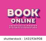 vector retro styled emblem book ... | Shutterstock .eps vector #1431936908