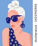 fashion woman model with... | Shutterstock .eps vector #1431945905