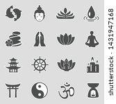 buddhism icons. sticker design. ... | Shutterstock .eps vector #1431947168