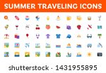 all type of summer travel icons ... | Shutterstock .eps vector #1431955895
