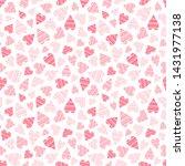 pink romantic seamless pattern. ... | Shutterstock .eps vector #1431977138
