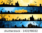four halloween banners with... | Shutterstock . vector #143198032