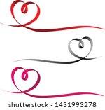 ribbons in heart shape.... | Shutterstock .eps vector #1431993278