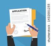 vector application documents... | Shutterstock .eps vector #1432001255