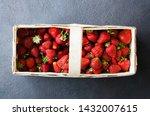 Fresh Ripe Strawberries In A...