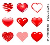 different hearts icons detailed ... | Shutterstock .eps vector #1432031258