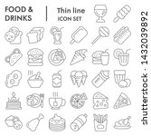 food and drinks thin line icon... | Shutterstock .eps vector #1432039892