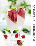 cream jelly with strawberries... | Shutterstock . vector #143204602