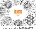 indian food illustration. hand... | Shutterstock .eps vector #1432046972