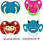 pacifier vector baby soother... | Shutterstock .eps vector #1432052975
