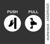 pull and push to open. vector... | Shutterstock .eps vector #1432092425