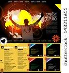 website template   Shutterstock .eps vector #143211655