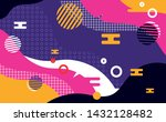 abstract colorful pattern shape ... | Shutterstock .eps vector #1432128482