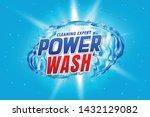 power wash detergent packaging...   Shutterstock .eps vector #1432129082