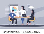 important business discussion... | Shutterstock .eps vector #1432135022