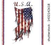 united states of america flag... | Shutterstock .eps vector #1432142618