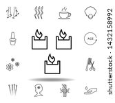 spa candle variant outline icon....