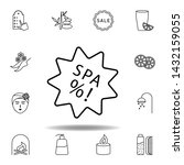 spa discount outline icon....