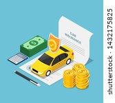 flat 3d isometric car on... | Shutterstock .eps vector #1432175825