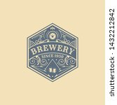 vintage badges of brewery ... | Shutterstock .eps vector #1432212842