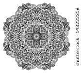 lacy ornate vector black napkin ... | Shutterstock .eps vector #143222356