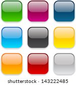set of blank colorful square... | Shutterstock .eps vector #143222485