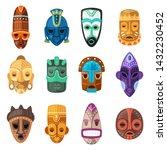 tribal mask vector cartoon...   Shutterstock .eps vector #1432230452