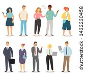 cartoon people vector casual... | Shutterstock .eps vector #1432230458