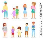 kids glasses vector children... | Shutterstock .eps vector #1432230692